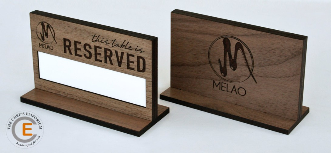 Wooden Table Reserved Signs, custom crafted for your restaurant.
