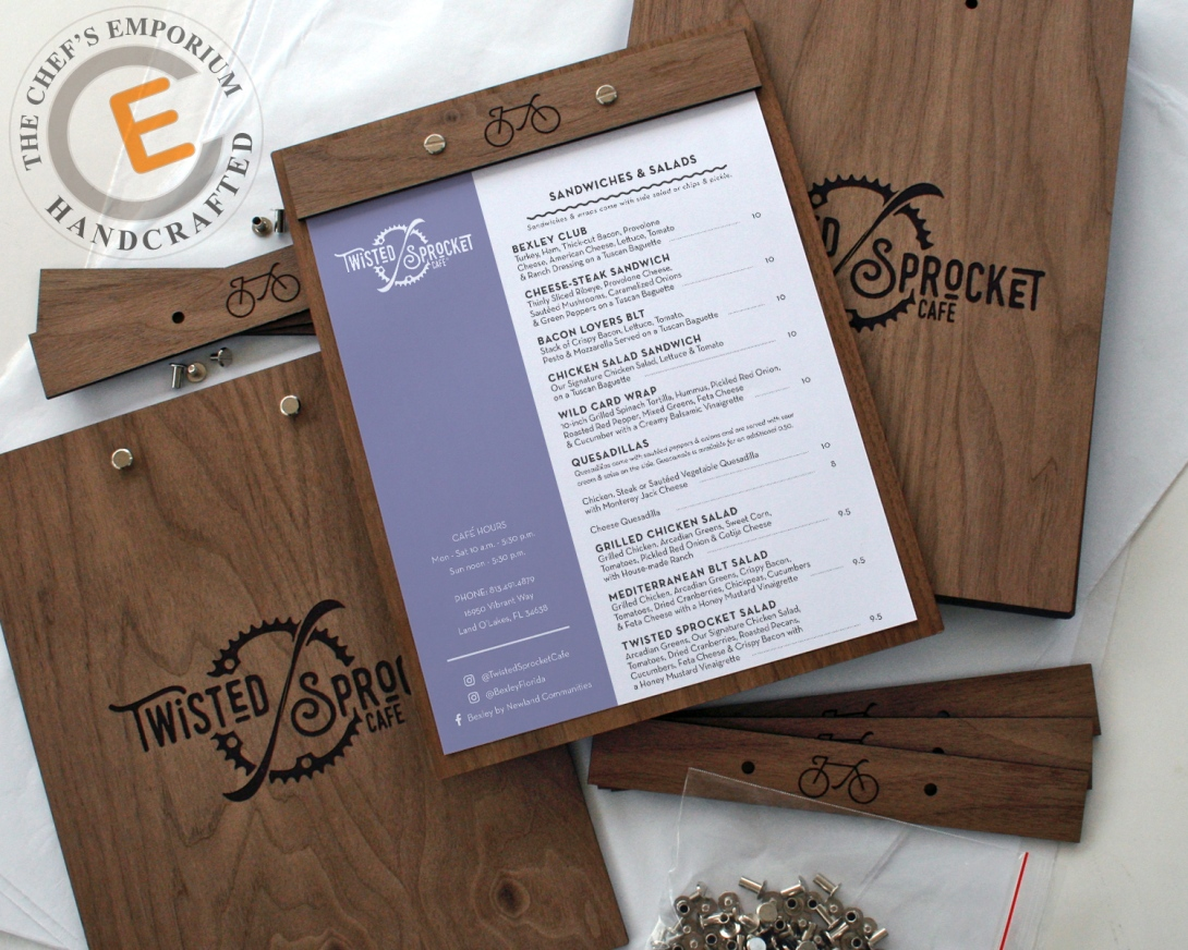 Menu Holder - Wooden Menu Board