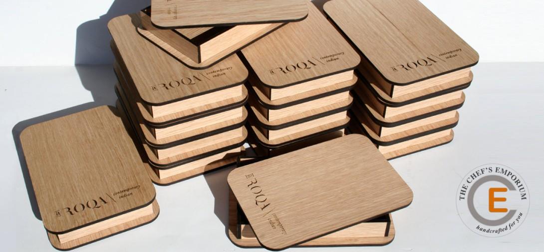 Modern wooden Check Presenters