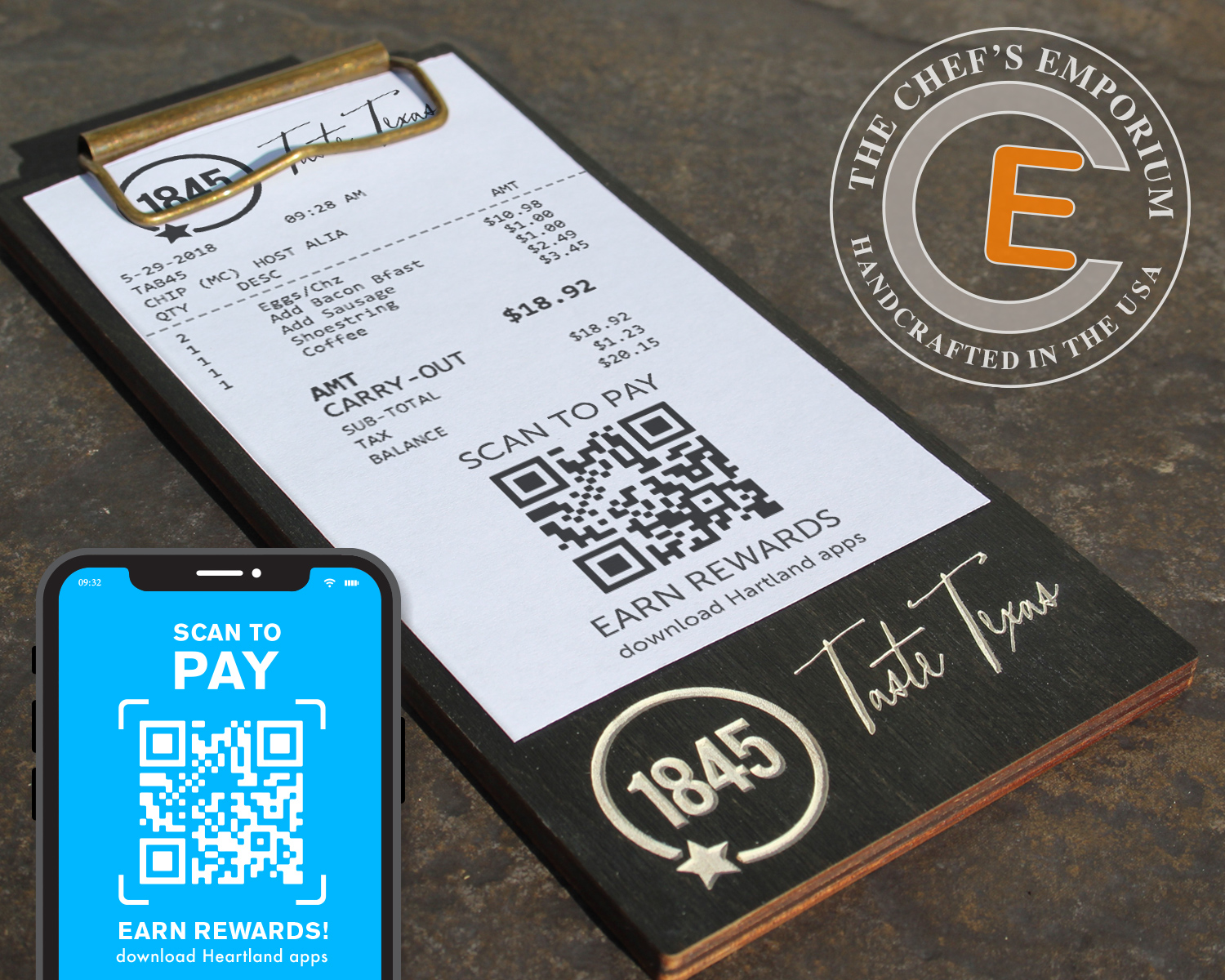 Restaurant Check Holder Touchless Scan to Pay - #restaurantrecovery