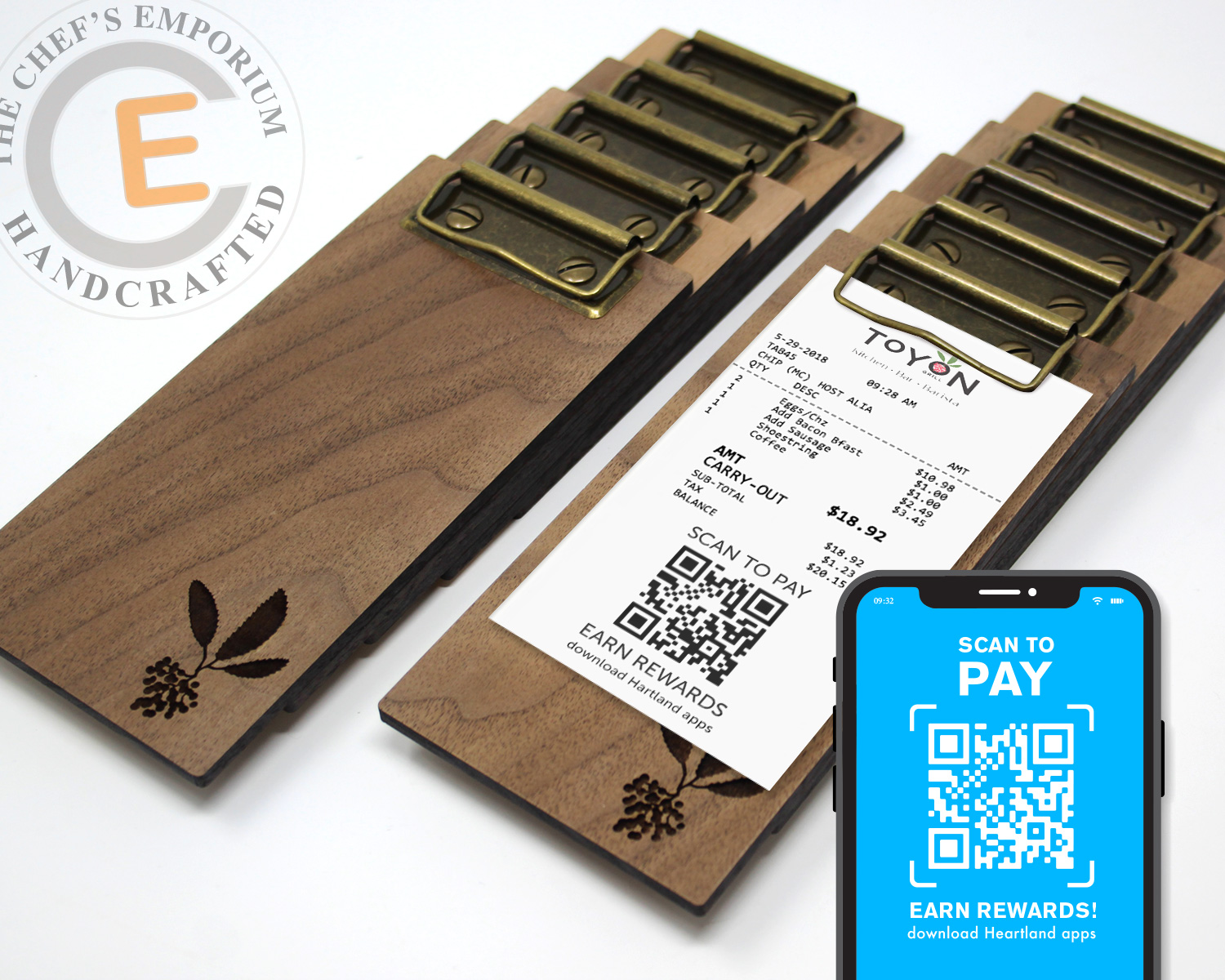 Restaurant Check Holder Touchless Scan to Pay - #restaurantrecovery #restaurantindustry #foodindustry